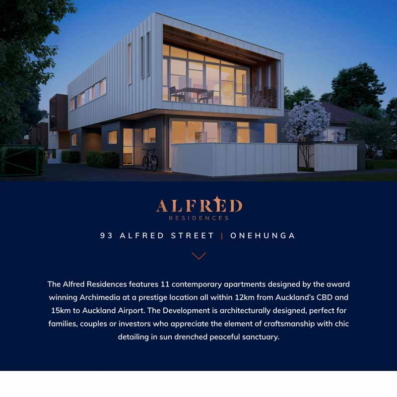 Alfred Residences Home Page